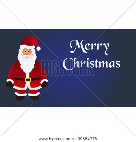 Mery Christmas With Cartoon Santa Claus With Red Outfit Eps10