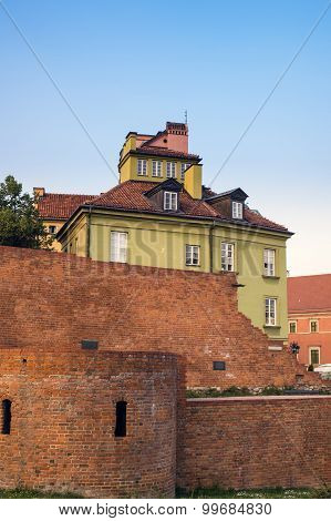 Malbork,Poland- August.22: the walls of old teutonic castle in Malbork.