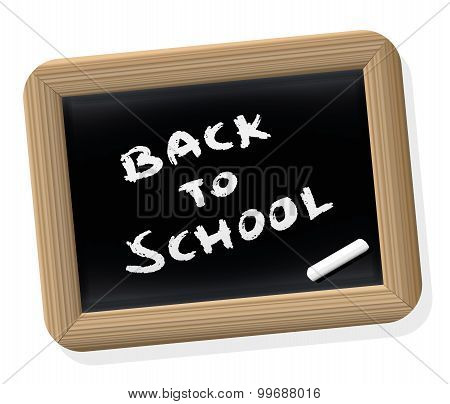 Back To School Blackboard Retro Style