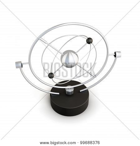 Pendulum Isolated On White Background. Pendulum Anti-stress. 3D
