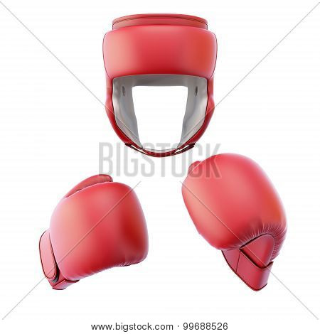 Boxing Helmet With Gloves
