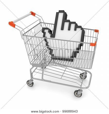 Hand Cursor In Shopping Cart