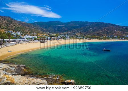 Mylopotas Beach, Ios Island, Cyclades, Aegean, Greece