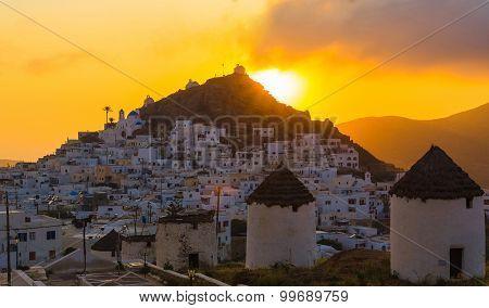 Chora Town, Ios Island, Cyclades, Aegean, Greece