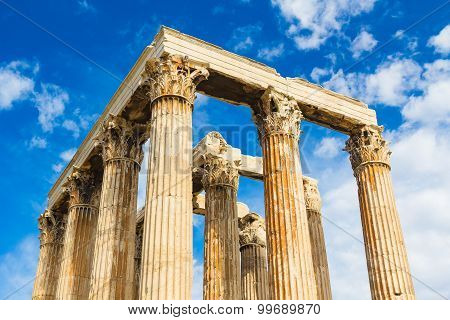 Ancient Temple Of Zeus, Olympeion, Athens, Greece