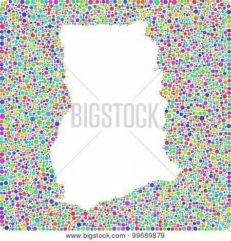 Map of Ghana - Africa -