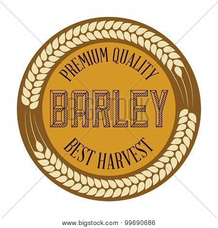 Beer and barley design.