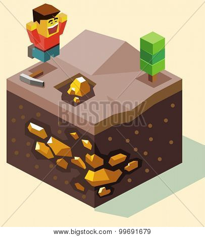 Hit the Jackpot. isometric art