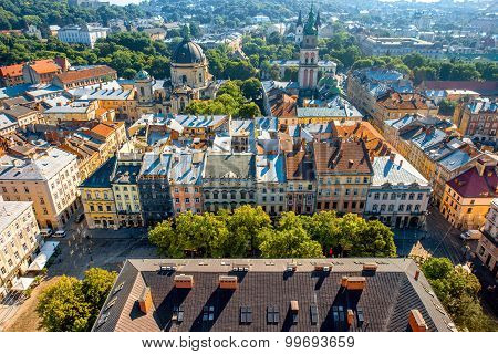 Lviv old city in Ukraine