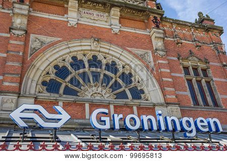 Entrance To The Station Of Groningen