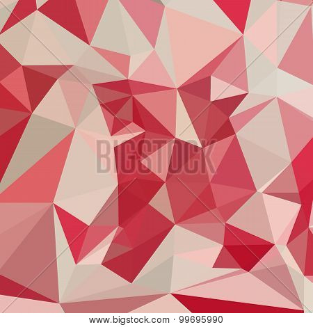 Cardinal Red Abstract Low Polygon Background