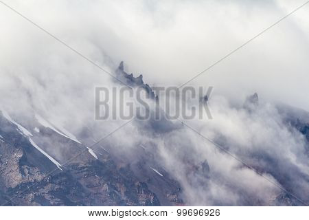 Dense Fog In The Crater