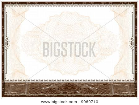 Blank Diploma Or Certificate Border