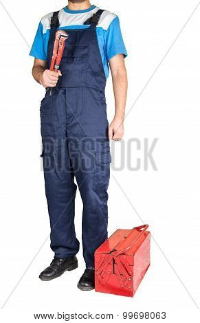 Working Man with toolbox