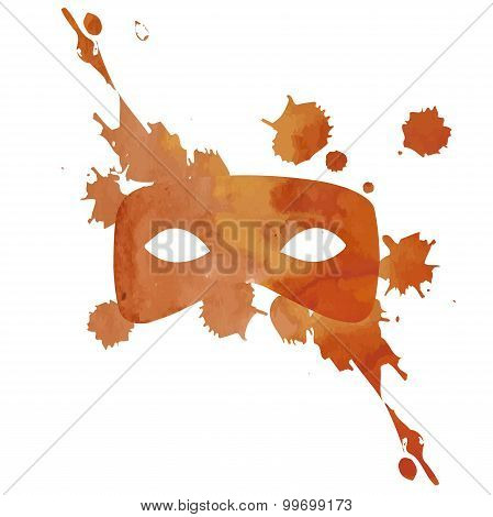 Vector Aquarelle Mask With Splash