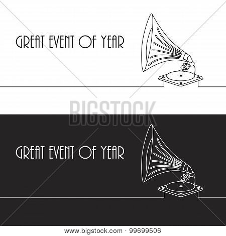 Vector Old Gramophone