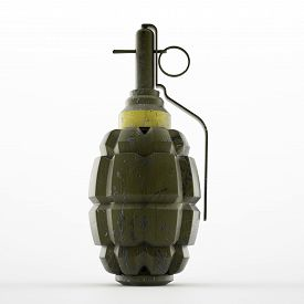 pic of grenades  - Hand grenade in old world war two style pineapple shape - JPG