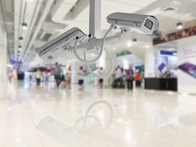 picture of department store  - CCTV Security camera shopping department store background - JPG