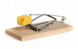 picture of mouse trap  - Mouse trap isolated on a white background - JPG