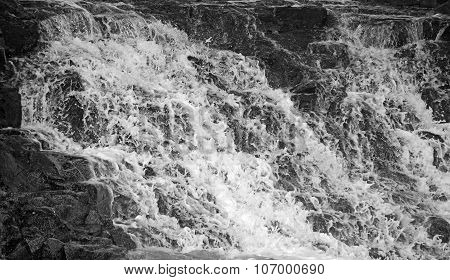 Waterfall Background In Black And White