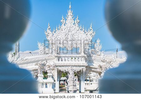 Wat Rong Khun The art in the style of a Buddhist temple in Chiang Rai, Thailand