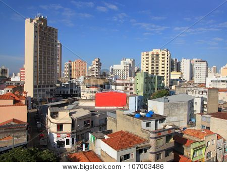 SOROCABA, BRAZIL - May 06: Downtown Sorocaba in Brazil on May 06, 2015 Sorocaba is a automotive hub and a manufacturing center where textiles, cement, vegetable oils, and machinery are made.