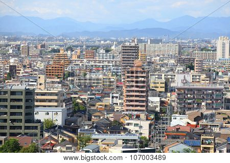 NAGOYA, JAPAN -SEPTEMBER 13: Nagoya cityscape on September 13, 2014,Greater Nagoya is is the hub of Japanese manufacturing industries, producing over 40% of manufacturing goods Nagoya city