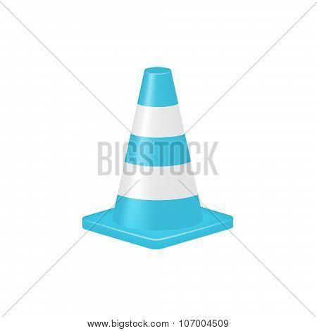 Traffic cone in turquoise design