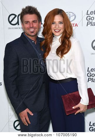 LOS ANGELES - OCT 24:  Rachelle Lefevre & Chris Crary arrives to the 25th Annual Environmental Media Awards on October 24, 2015 in Hollywood, CA.