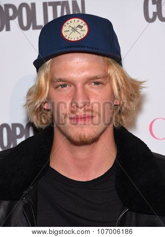 LOS ANGELES - OCT 13:  Cody Simpson arrives to the Cosmopolitan's 50th Birthday Party on October 13, 2015 in Hollywood, CA.