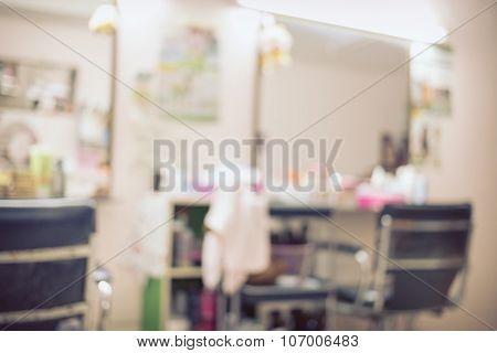 Salon Beauty Interior Room, Abstract Blur Background