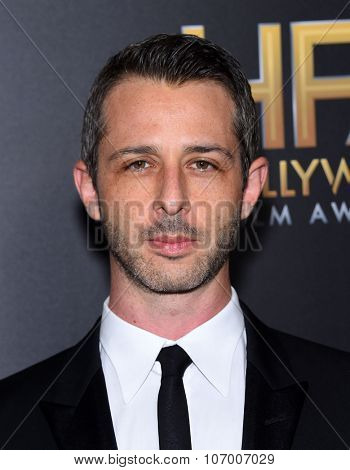 LOS ANGELES - NOV 1:  Jeremy Strong arrives to the Hollywood Film Awards 2015 on November 1, 2015 in Hollywood, CA.