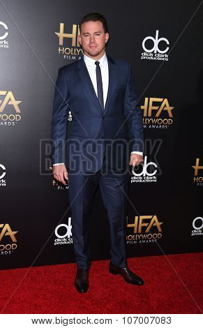 LOS ANGELES - NOV 1:  Channing Tatum arrives to the Hollywood Film Awards 2015 on November 1, 2015 in Hollywood, CA.