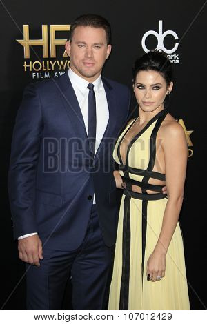 LOS ANGELES - NOV 1:  Channing Tatum, Jenna Dewan-Tatum at the 19th Annual Hollywood Film Awards at the Beverly Hilton Hotel on November 1, 2015 in Beverly Hills, CA
