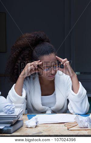 Headache While Doing Homework