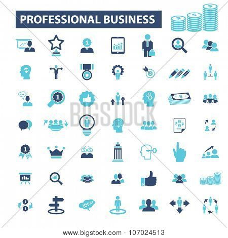 business icons, signs vector concept set for infographics, mobile, website, application
