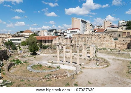 Athens, Greece 13 September 2015. Roman ancient market in Athens ready to welcome tourists and local