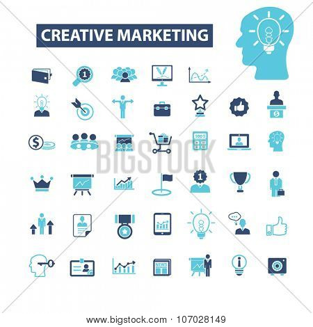 creative marketing  icons, signs vector concept set for infographics, mobile, website, application