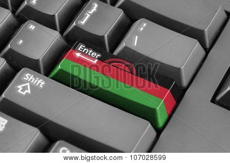 Enter Button With Malawi Flag