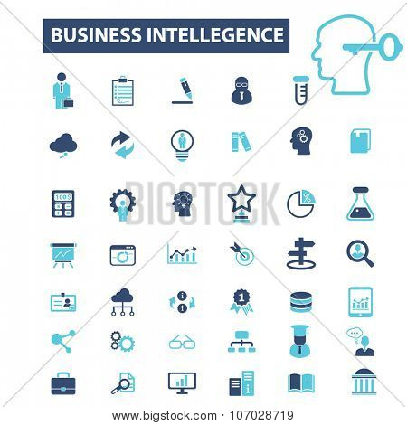 business intelligence, analytics, marketing research, analysis icons, signs vector concept set for infographics, mobile, website, application