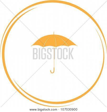 umbrella. Internet button. Vector icon.