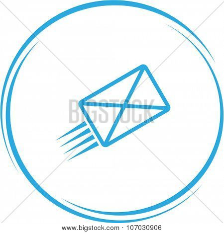 send mail. Internet button. Vector icon.