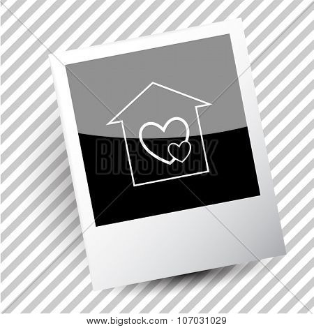 orphanage. Photoframe. Vector icon.