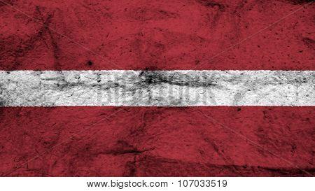 flag of Latvia, Latvian flag painted on wool