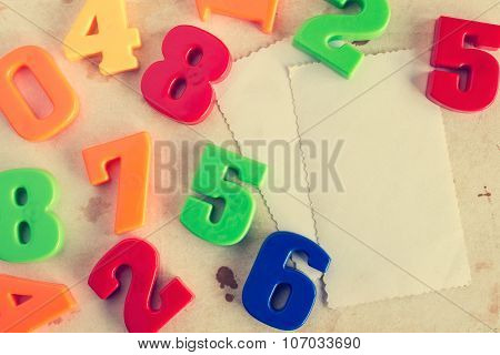Colorful  Numbers With Empty Cards