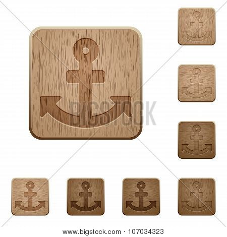 Anchor Wooden Buttons