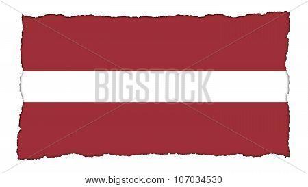 flag of Latvia, Latvian flag painted on paper texture