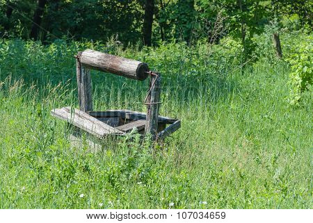 Abandoned Wooden Well