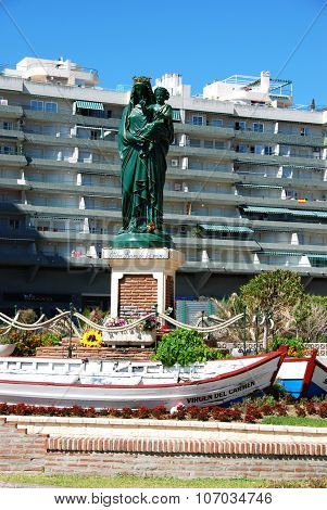 Queen of the seas statue, Fuengirola.