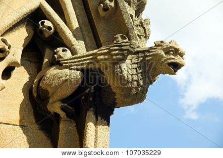 Gargoyle at St. Mary The Virgin in Oxford